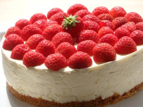 Cheesecake, citron vert, fraises