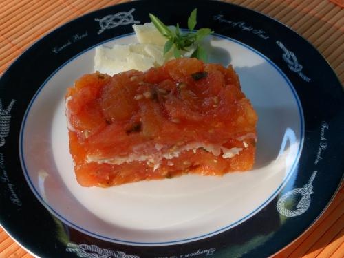 Tomates, jambon sec, parmesan