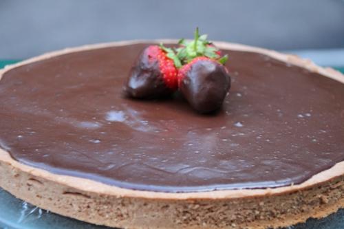 tarte, cacao, chocolat, café