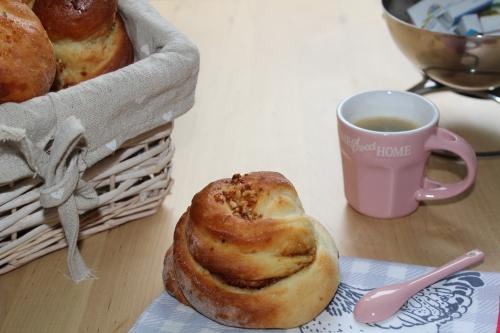 Brioche, pâte praliné