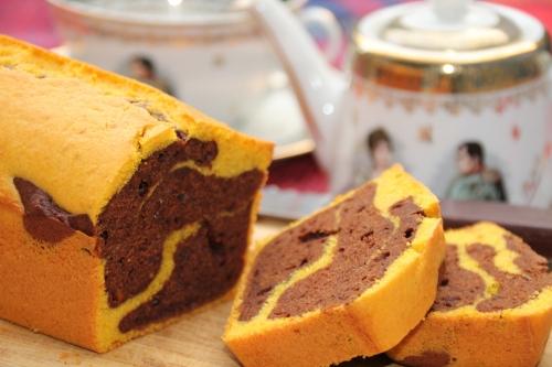 cake, potimarron, chocolat noir