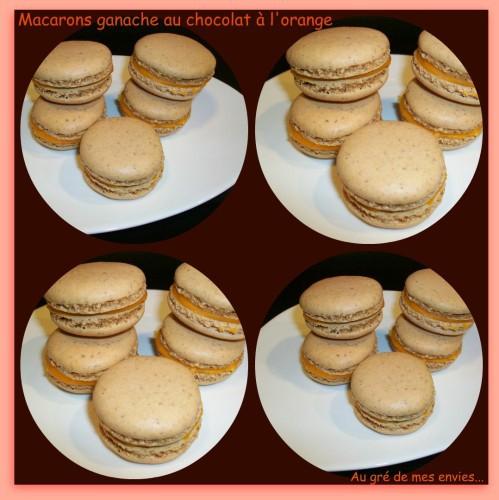 Macarons, ganache chocolat