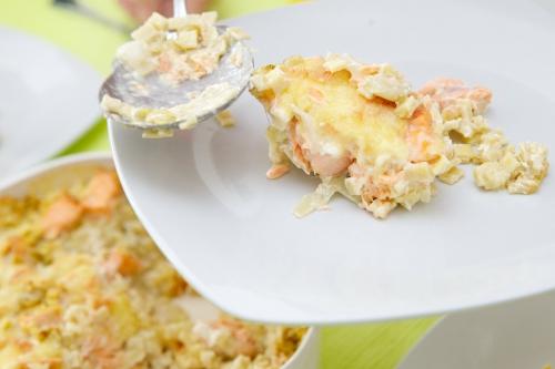 Crozets, Maroilles, saumon