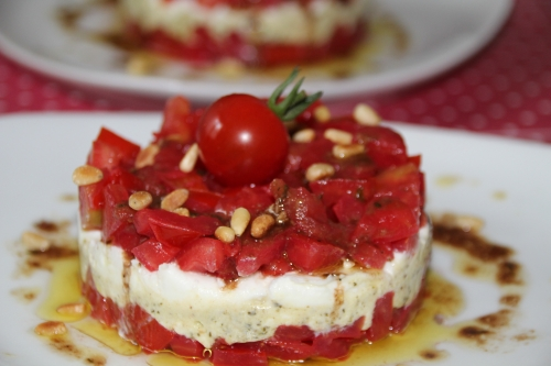 tomate, mozzarella, pesto