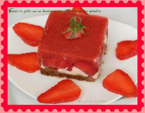 Spéculoos, fraises
