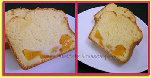 Cake, abricot, mascarpone