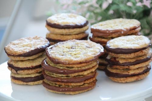 flocons d'avoine, galettes, chocolat