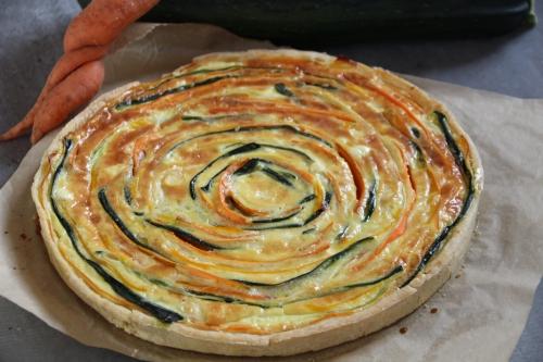 tarte salée, carotte, saint môret, courgette