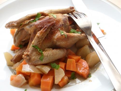 Pigeon, pain d'épices, cidre