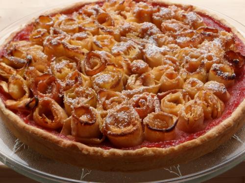 Desserts, pommes, compote pomme-framboise