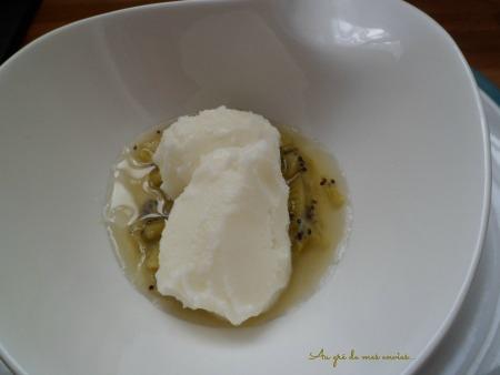 Sorbet mascarpone, citron, kiwis