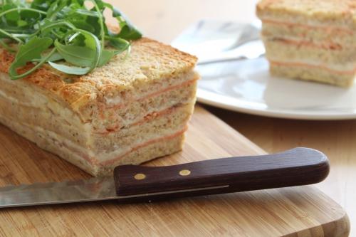 Cake salé, saumon