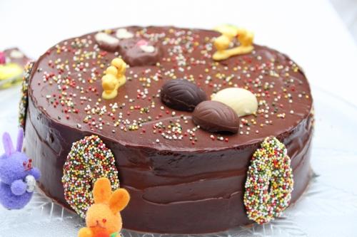 Gâteau, chocolat, mascarpone, Pâques