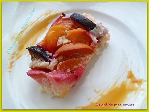 Riz, prunes, nectarines, abricots