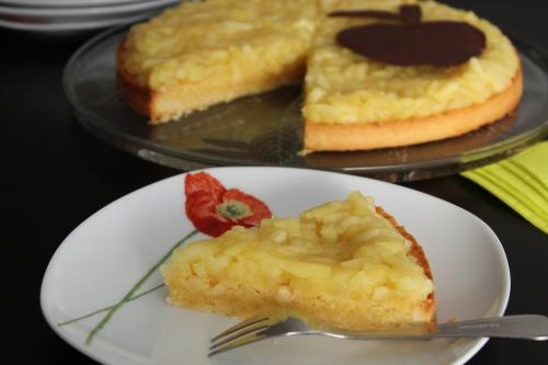 Tarte sucrée, pomme, crème d'amande