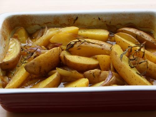 Pommes de terre, curcuma