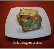 Cake, Feta, courgette