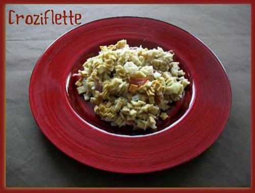 Crozets, jambon sec, reblochon
