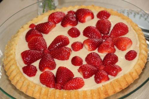 fraise, tarte sucrée