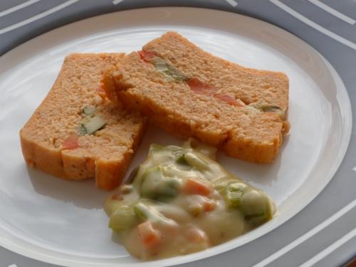 Surimi, carotte, courgette