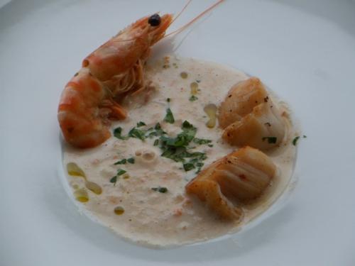 Saint-Jacques, crevettes sauvages
