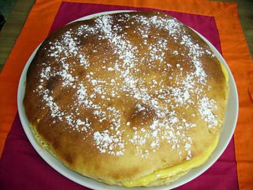 Brioche, crème pâtissière