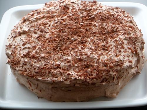 Gâteau, chantilly au chocolat
