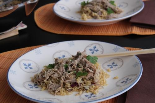 Porc, riz, épices, Vietnam