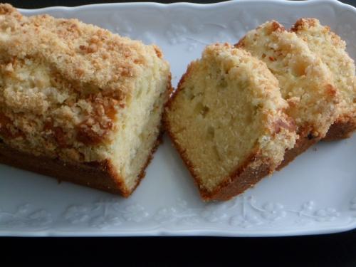cake, rhubarbe