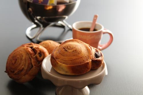 boulange, petit-déjeuner, cacao