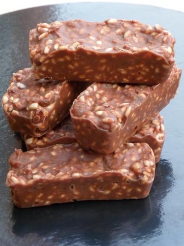 Riz soufflé, chocolat