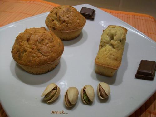 Goûter, pistache, chocolat