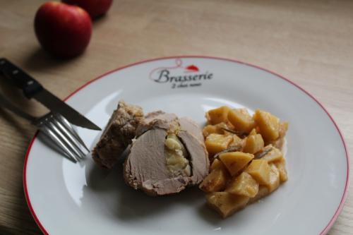 Filet mignon, pomme, tome de Cambrai