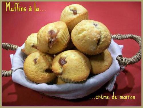 muffin, crème de marron