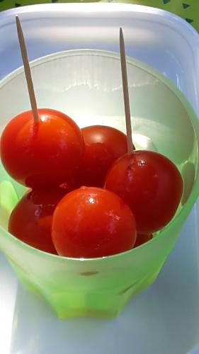 Apéritif, tomate cerise, vinaigre