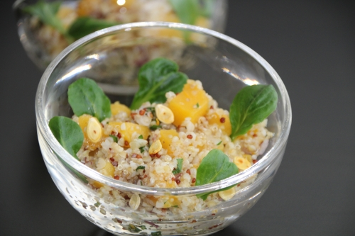 quinoa, boulgour, citron, orange, miel